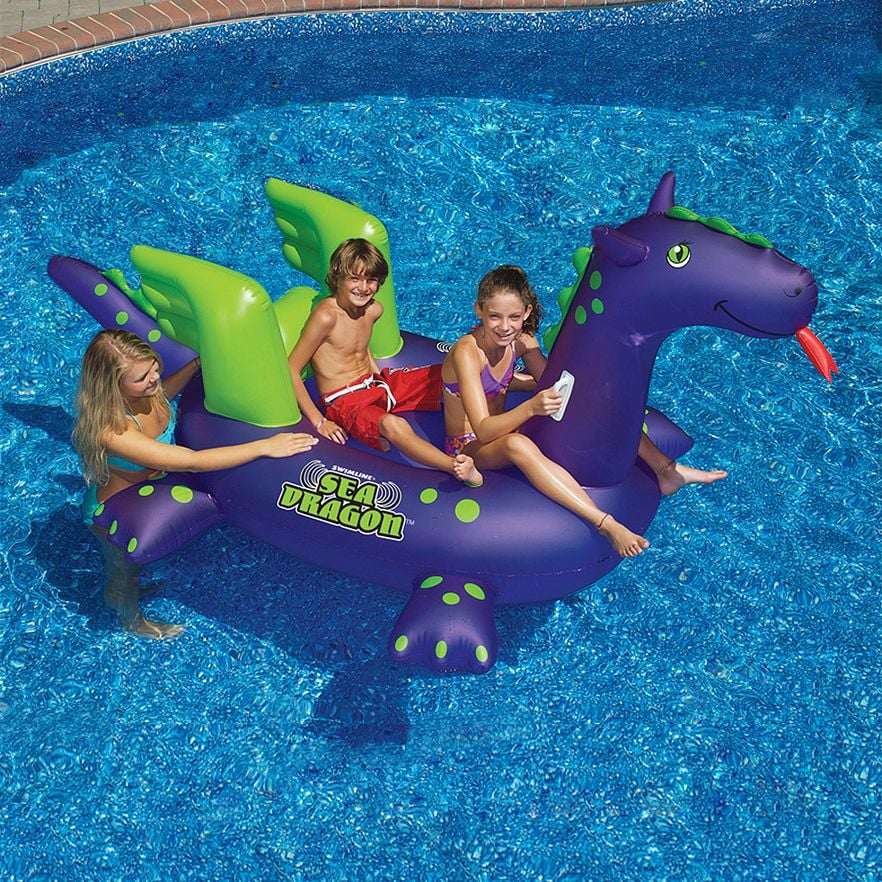 Giant Sea Dragon 9-Ft. Inflatable Ride-On Pool Toy