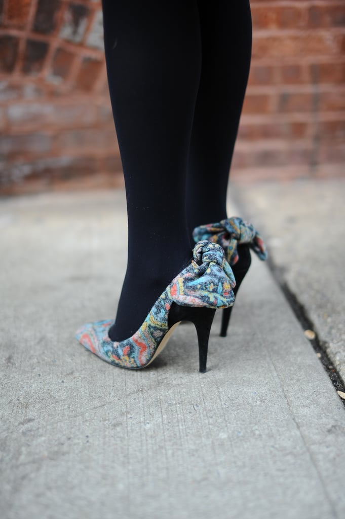 Spotted on the heels of our style director, Melissa Liebling-Goldberg: a pair of seriously adorable Carven pumps.