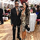 Miguel and Nazanin Mandi at the 2020 Roc Nation Brunch in LA