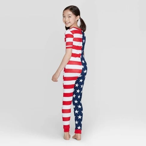 Snooze Button Kids Stars and Stripes Family Pajama Union Suit