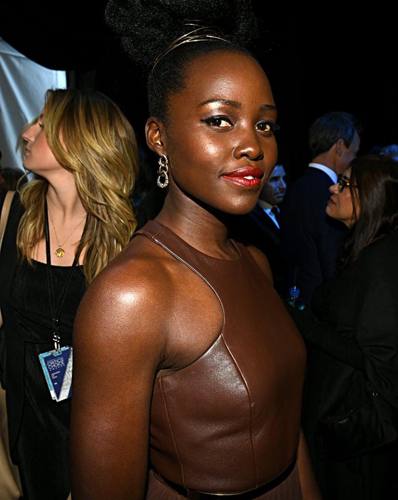 Lupita Nyong'o's Hair Detail at the Critics' Choice Awards