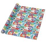 Sesame Street Christmas Pattern Paper