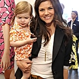 Tiffani Thiessen brought daughter Harper Smith, 1, to the event.