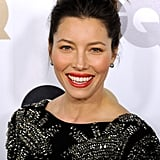 Jessica Biel couldn't stop smiling at a party in LA.