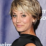 Kaley Cuoco proves that even short-stranded gals can get in on the feathered fun.