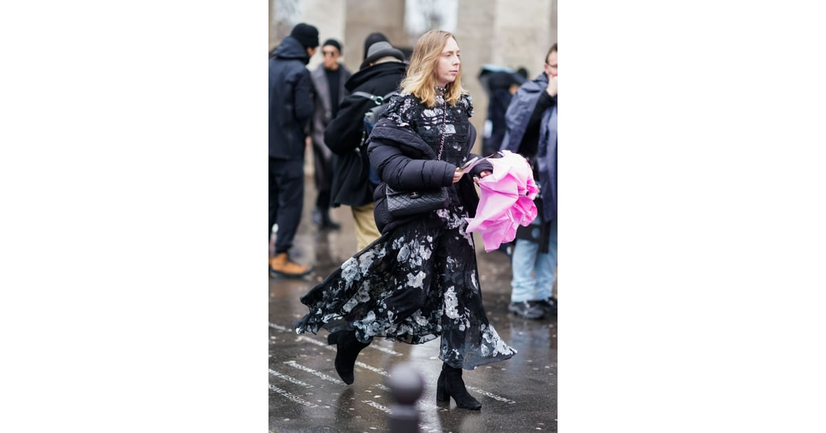 Style Your Maxi Dress With A Big Puffer