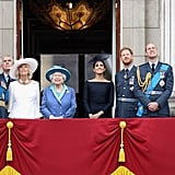 A look at how the queen stands next to the rest of the royal family.