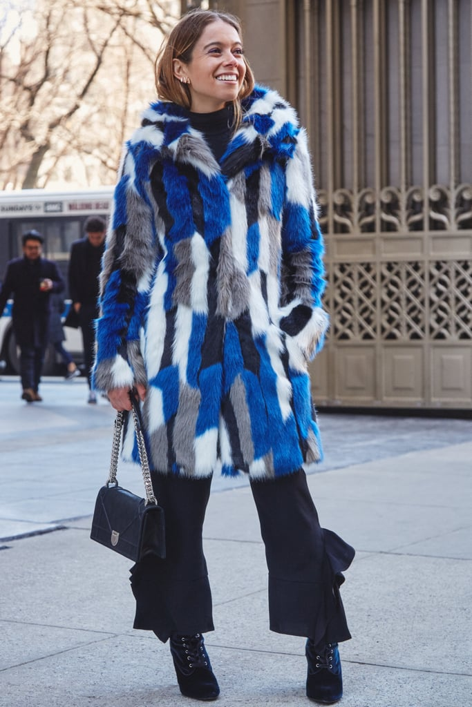 On Editor Sarah Wasilak: Karen Millen coat, Zara pants, Dior bag, and Steve Madden boots