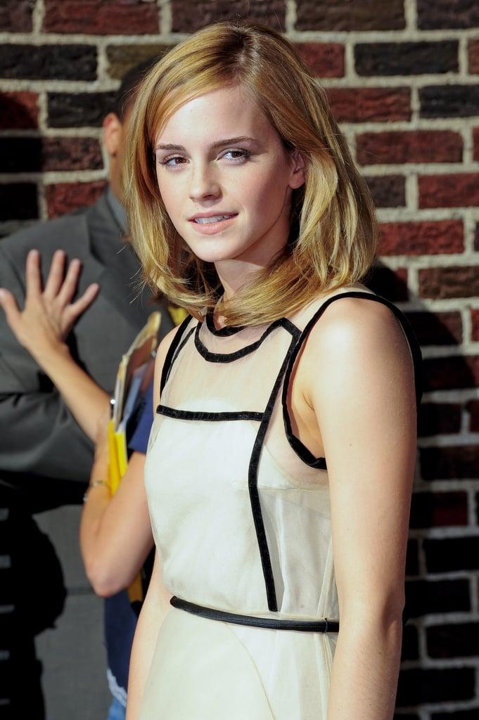 Emma Watson on Letterman