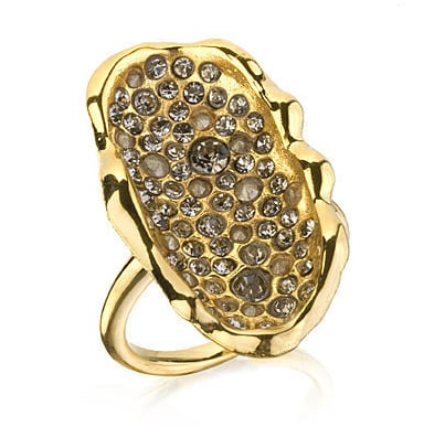Alexis Bittar Crystal Encrusted Oval Cup Ring ($98, originally $140)