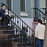 Ethan Hawke and Katie Holmes talked in NYC.