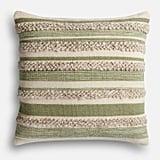 Pier 1 Imports Magnolia Home Zander Sage & Ivory Oversized Pillow