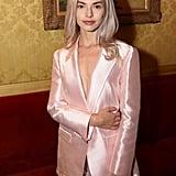Kit Keenan in a Pink Short Suit