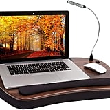 Sofia Sam Oversized Wood Top Memory Foam Lap Desk with Detachable USB Light