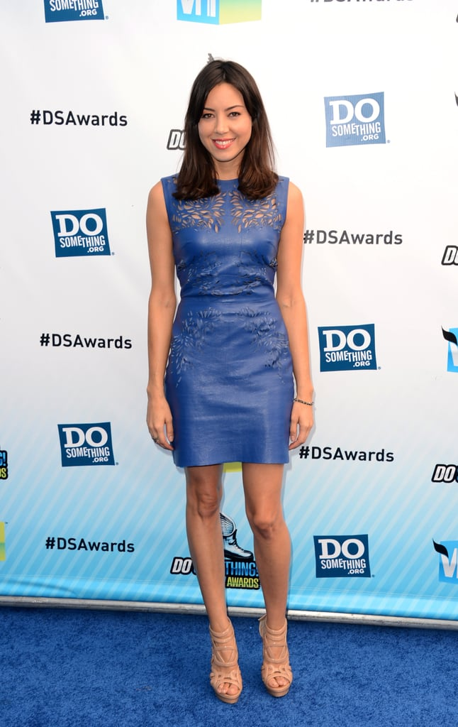 Parks And Recreation Starlet Aubrey Plaza Donned A Sexy Leather  Ashley Greene At Do -2845