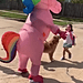 A Mom Surprised Her Daughter at the Bus Stop in a Unicorn Costume, and What a Sweet Reaction!