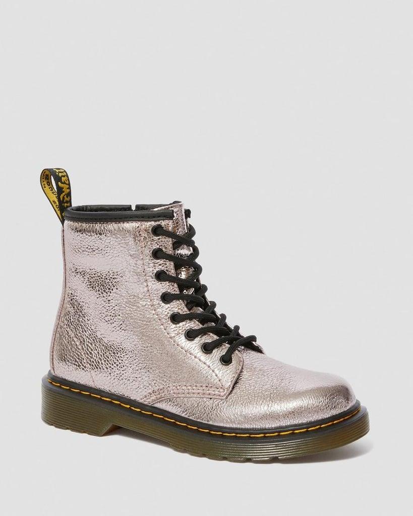 Dr. Martens Junior 1460 Boots in Crinkle Metallic