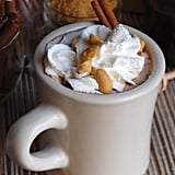 Fluffernutter Hot Chocolate With Roasted Peanuts