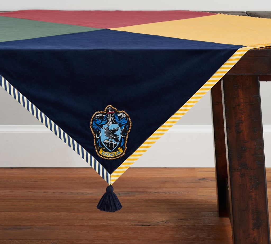 Here's the Ravenclaw corner of the table throw!