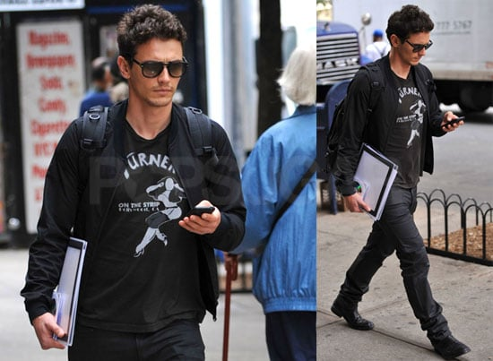 Photos of James Franco Walking in New York