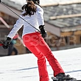 Kate Middleton skated along on her skis in France.