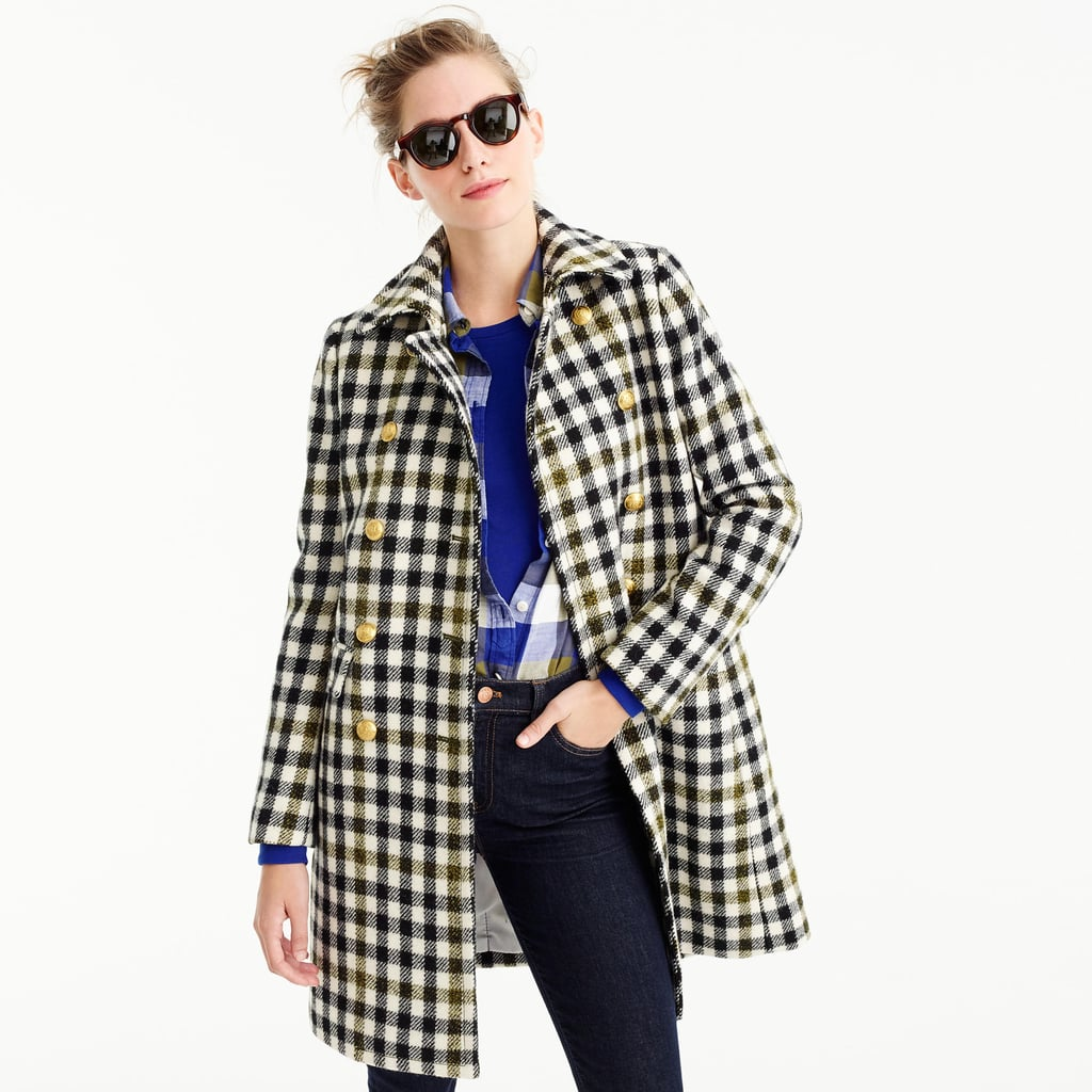 Achieve A Pixelated Effect When You Layer Up On Plaid J Crew Style Hacks Popsugar Fashion