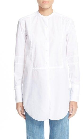 Helmut Lang Poplin Tuxedo Shirt ($360)