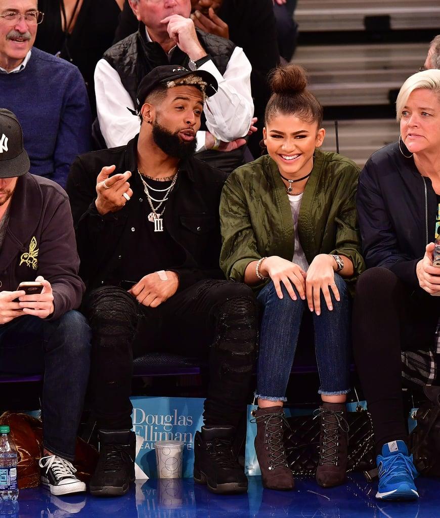 Zendaya is spotted with Odell Beckham Jr at New York ... |Zendaya And Odell Beckham Knicks