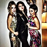 Ashley Benson, Selena Gomez, and Vanessa Hudgens got glammed up and posed for photos before heading to their Spring Breakers premiere in Berlin. Source: Instagram user itsashbenzo
