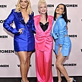 Bebe Rexha, Cyndi Lauper, and Becky G at the 2020 Women in Harmony Brunch in LA