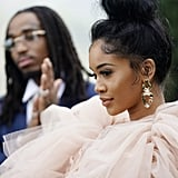 Quavo and Saweetie at the 2020 Roc Nation Brunch in LA