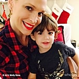 Molly Sims and Brooks Stuber were all smiles on Christmas morning.