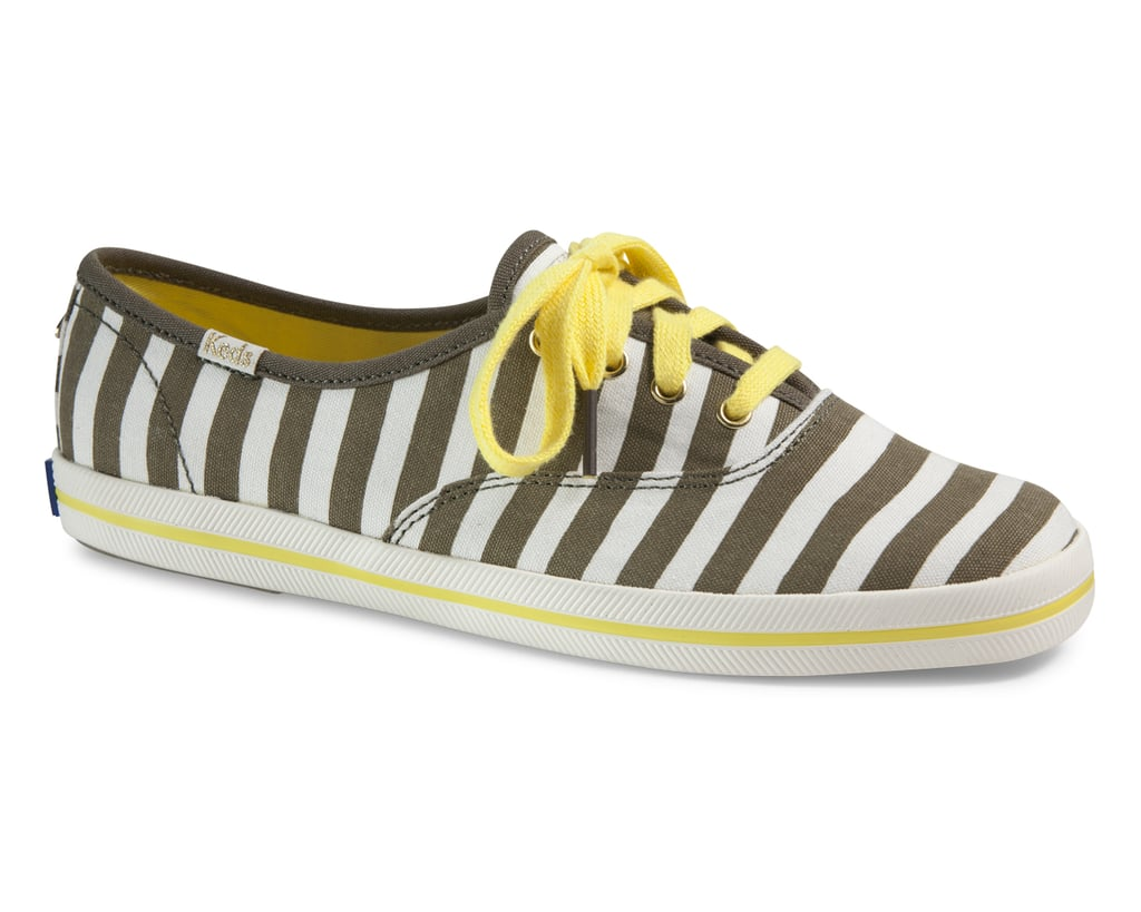 I've been wearing stripes nearly head-to-toe for much of 2013, so before I retire my linear print, I might as well go all out. This Keds x Kate Spade pair ($75) has a bold, kicky graphic motif as well as rich hues that will effortlessly transition into Fall. 