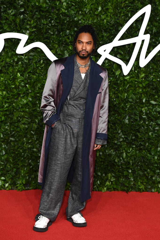 Miguel at the British Fashion Awards 2019