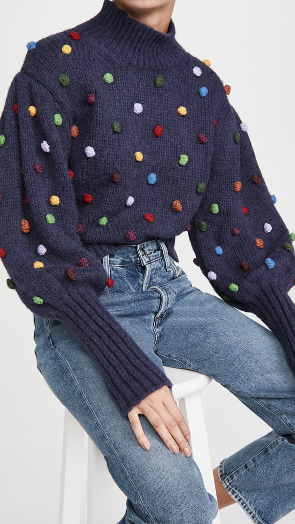 Farm Rio Colorful Dots Sweater
