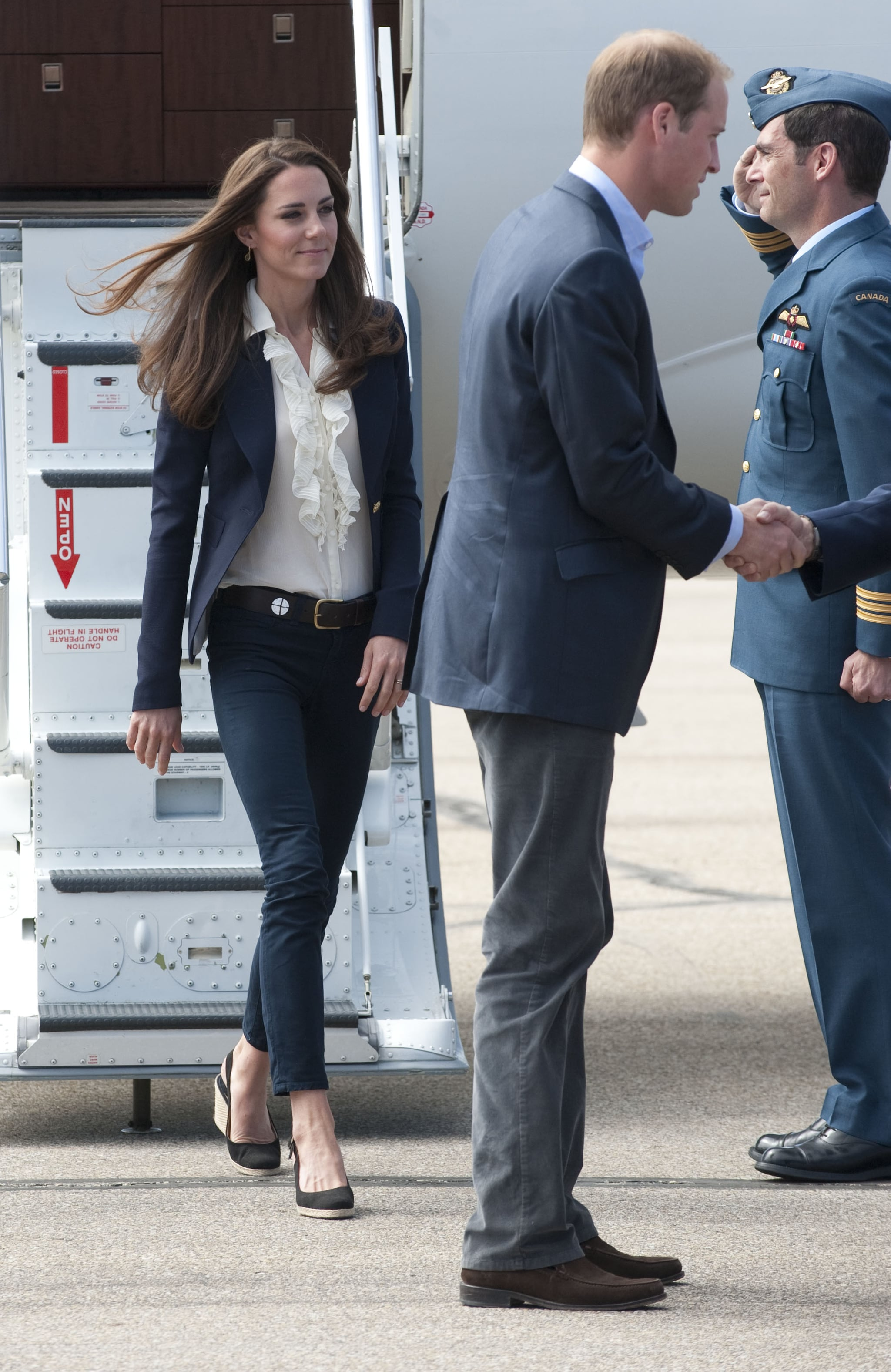 Prince William and Kate Middleton arrive in Alberta.