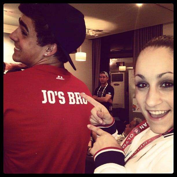 Jordyn Wieber showed off her brother's t-shirt. Source: Instagram user jordyn_wieber