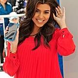 Kourtney Kardashian with Blond Highlights 2012