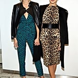 Gigi contrasted patterns with her sister Bella at a Sportmax and Teen Vogue party in 2014.