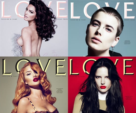 Love Magazine Issue 4 Cover Stars Agyness Deyn, Kelly Brook, Alessandra Ambrosio