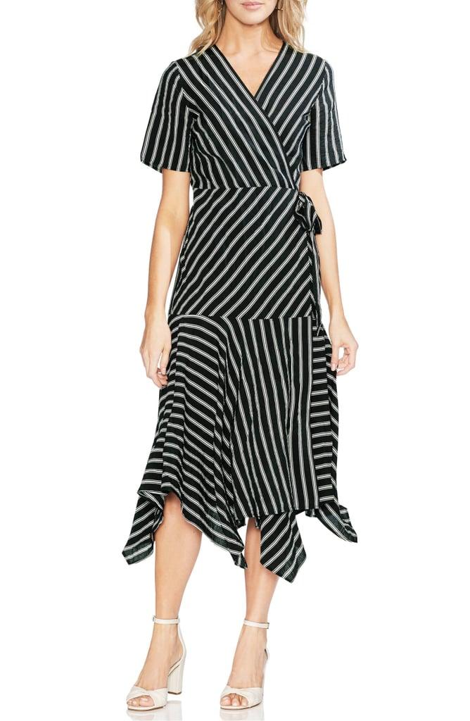 Vince Camuto Playful Stripe Wrap Dress