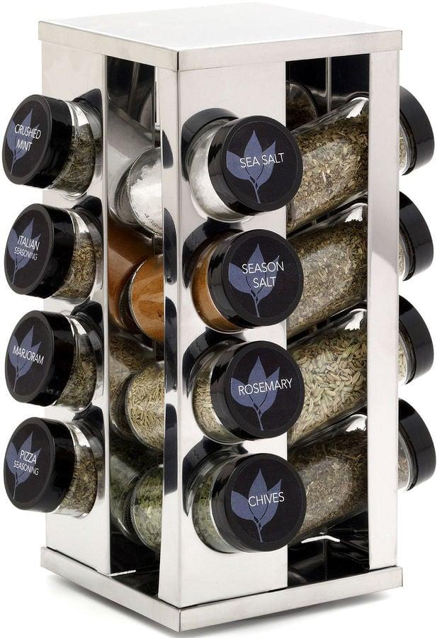 16-Jar Revolving Spice Rack