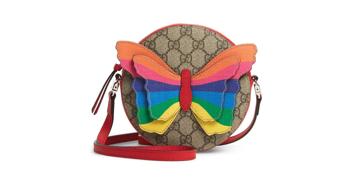5efd4c9a67b6 Gucci GG Supreme Rainbow Butterfly Crossbody Bag | Best Rainbow Bags |  POPSUGAR Fashion UK Photo 9