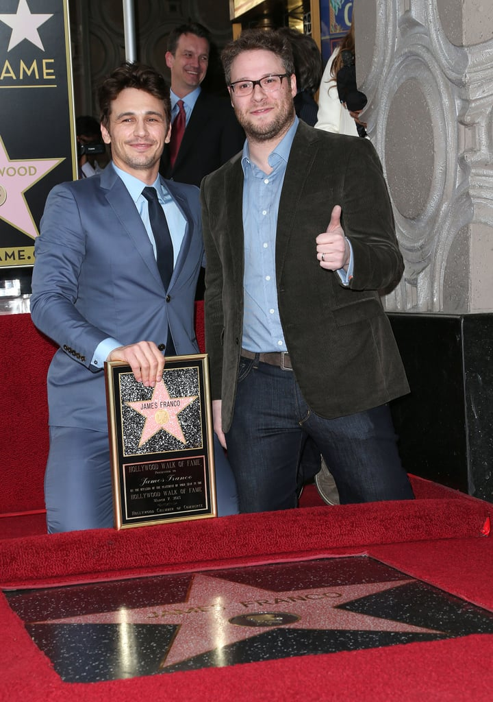 James Franco was honoured in Hollywood yesterday with a star on the Walk of Fame. The actor's latest movie, Oz the Great and Powerful, hit cinemas around the country on Thursday. James has been gearing up for the Disney release for several weeks, kicking things off in February at a premiere in LA, where he waved to fans from Oz's infamous hot-air balloon before walking the red carpet. James was joined by his former Freaks and Geeks co-star Seth Rogen at yesterday's star ceremony. Oz director Sam Raimi, who previously worked with James on Spider-Man, shared a few words about the actor to mark the occasion, while his brother Dave and mom Betsy looked on proudly. To get the scoop on James's performance as the wizard, check out our review of Oz the Great and Powerful.