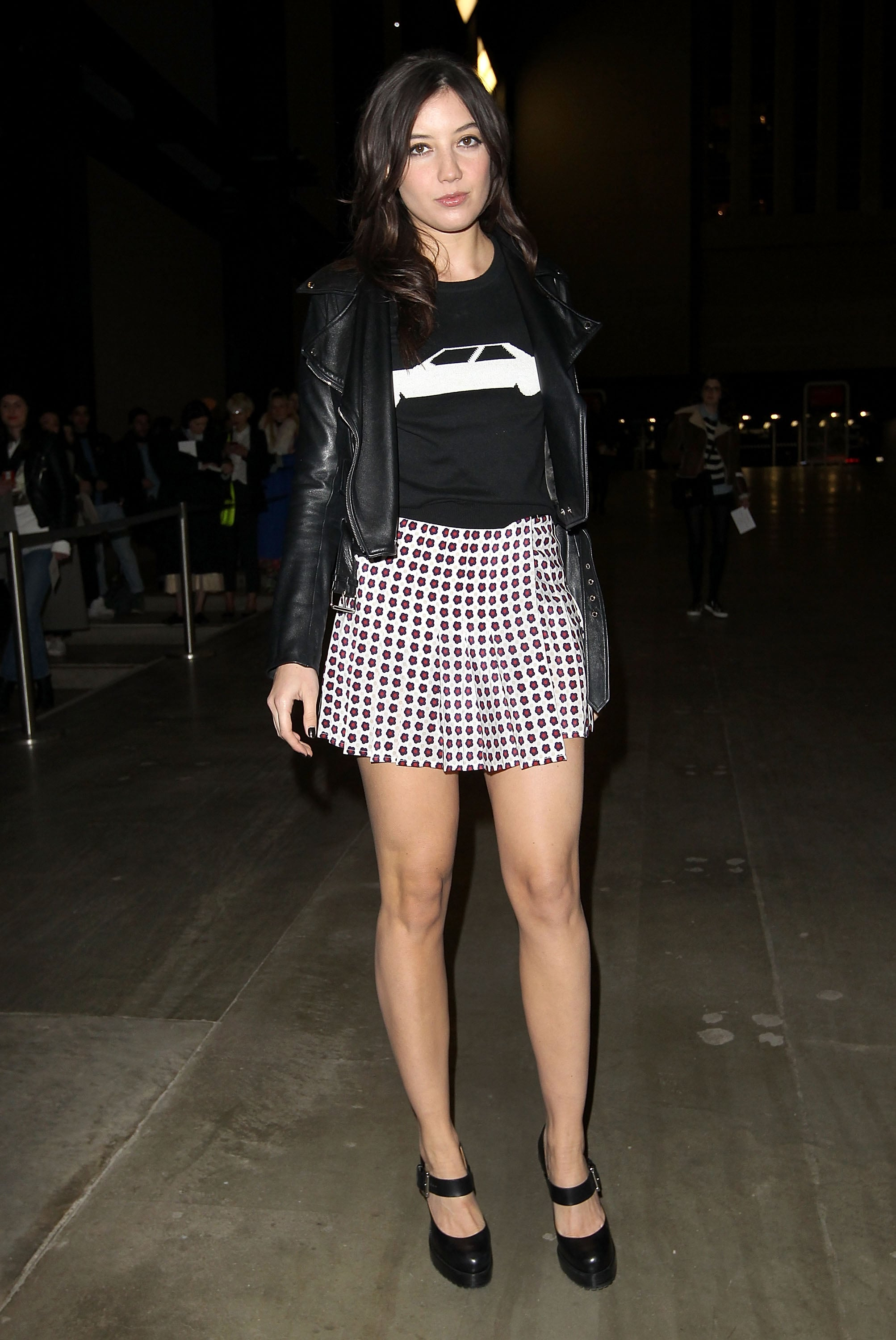 Daisy Lowe at the J.W. Anderson Fall 2013 show in London.