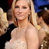 Heather Morris's diamond earrings provided just enough glitz to her textured gown.
