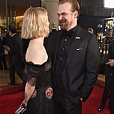 Pictured: Alison Sudol and David Harbour