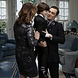 Chuck (Ed Westwick) has a bonding moment with his son.