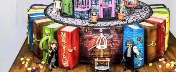 Elaborate Harry Potter Birthday Cake