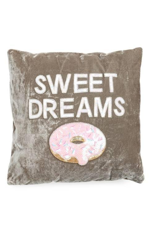 Sweet Dreams Velvet Pillow ($59)
